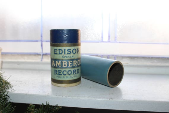 Antique Edison Cylinder Record Mystery Song