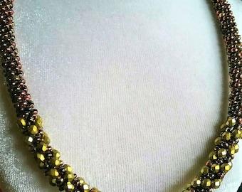 Mixed Metals Kumihimo Necklace