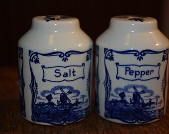 Delft Porcelain Salt and Pepper Shakers