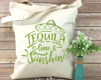 Tequila Lime and Sunshine - Tote Bag