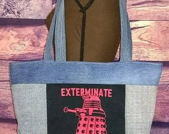 Doctor Who Denim Bag Recycled Denim Jeans