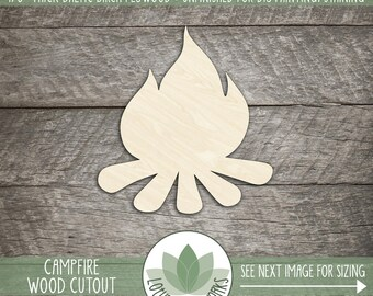Campfire Laser Cut Wood Shape, Camping Wood Cut Out, Laser Cut Campfire, DIY Crafting Supply, Party Decoration, Wedding Favors