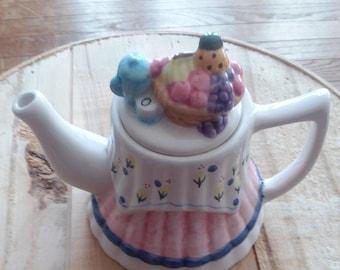 Vintage Whimsical Tea Table Teapot