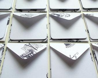Paris Stamps Mini Stationery Set