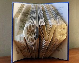 Aniversario de papel - amor - plegado libro escultura - libro amantes - Artfolds de regalo - decoración de la boda - boda - Luciana Frigerio Origami