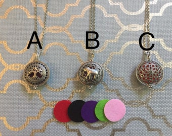 Aromatherapy Locket Necklaces-Essential Oil Diffusers