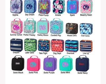 Lunchbox / Monogrammed Lunchbox / Personalized Lunchbox / Embroidered Lunch Tote / Lunch Pal / Back To School