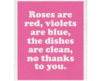 Roses Are Red Dishcloth