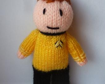 Captain Kirk (Star Trek) knitted doll