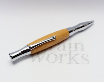 Ballpoint Pen - Virage Style - Bamboo with Chrome Accents (Gift Ready)