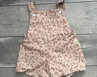 June Floral Baby Toddler Vintage Romper
