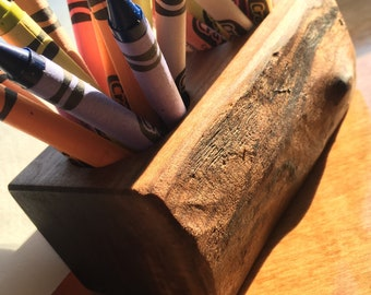 Walnut Crayon Holder