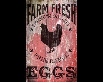 Fresh Eggs Distressed Wood Collage Paper - 11x17 - CLPR295 - by StudioR12