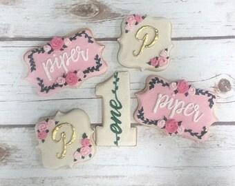 Floral Birthday Cookies