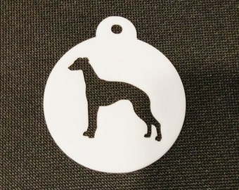 Whippet Cookie Biscuit Coffee Stencil - 2 sizes available