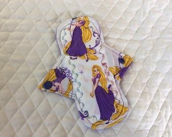 """7"""" Rapunzel on cotton    Top reusable cloth pads (Regular)"""