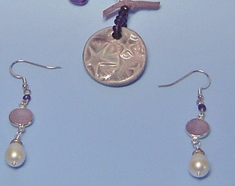 Twilight Earrings with Gemstones and Pearls
