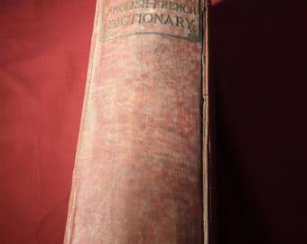 1903 'A New French & English Dictionary', Vintage Antique Book, Dictionnaire Francais Anglais
