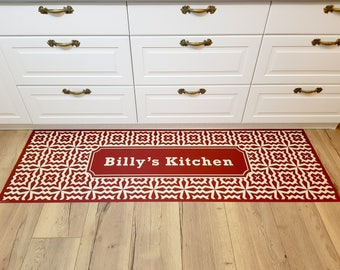 Pvc vinyl mat, personalized rug, floor mat, pvc carpet, kitchen rug, art mat, personal design, gift for her, home design, christmas gifts