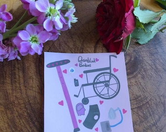 Disability aids sticker