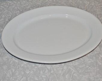 White Ironstone Platter ~ Alfred Meakin English Platter ~ White Farmhouse