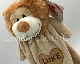 personalized blanket, Lion,baby gift, baby boy gift, baby blanket,lovey, baby shower gift, cuddle blankey,snuggle blanket, new baby gift