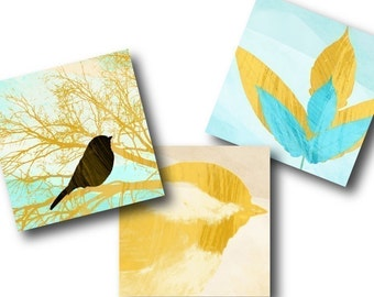Primavera 1 inch Square Tiles, Digital Collage Sheet, Download and Print Jpeg Clip Art Images