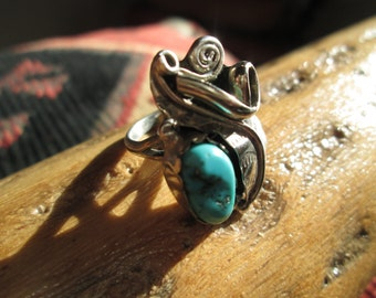 Vintage Turquoise and Sterling  Ring Size 6.75