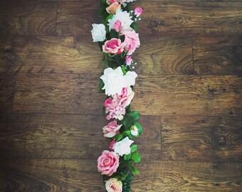 Beautiful handmade flower garland