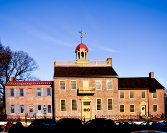 """Old New Castle Delaware Photography, """"The Courthouse"""" Print Architecture Wall Art Prints"""