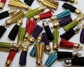 Faux Leather Tassels - Be...