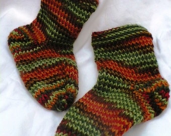 Soft and colorful handmade socks