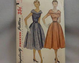 Vintage Simplicity Pattern 3581 Junior Size 13 Dress