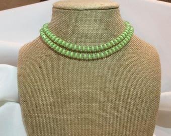 Vintage jade  double strand choker