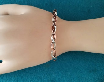 Sterling Silver and Copper cuff bracelet