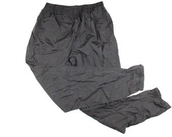 90s REEBOK Spell Out Nylon Joggers Jogger Pants Mens Large Black, Vintage Reebok Nylon Joggers, Vintage Pants, Vintage Joggers, Reebok Pants