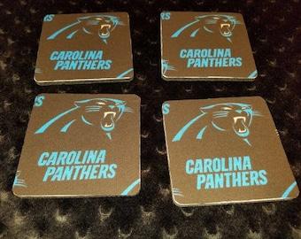 Carolina Panthers 4 Piece Coaster Set