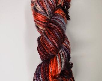 Cozy Bulky, hand dyed yarn, handdyed yarn, hand dyed bulky yarn, hand painted yarn, bulky yarn, bulky weight, BRAIIIIINS