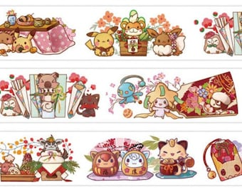 Pokemon washi tape sample