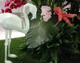 FLAMINGO 3D Papercraft Model - Download PDF Template - DIY Decoration