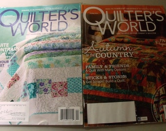 2 quilting magazines - Quilters World