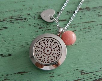 New Soleil Essential Oil Diffuser Necklace, Stainless Steel Necklace/Aromatherapy Oil Necklace/Locket(20mm)