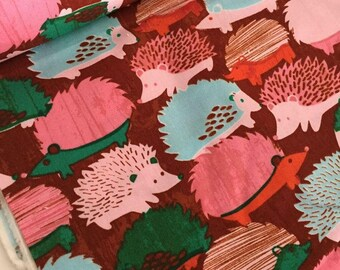 Hedgehog Cotton Poplin Quilting Fabric