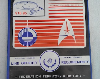 1987 first edition star trek line officer requierment training book