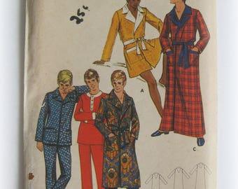 Vintage Butterick 5898 Men's Pajamas and Robe Pattern