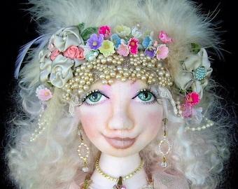"""Cinderella 16"""" Cloth Doll Pattern CD By Caroline Erbsland Signed"""