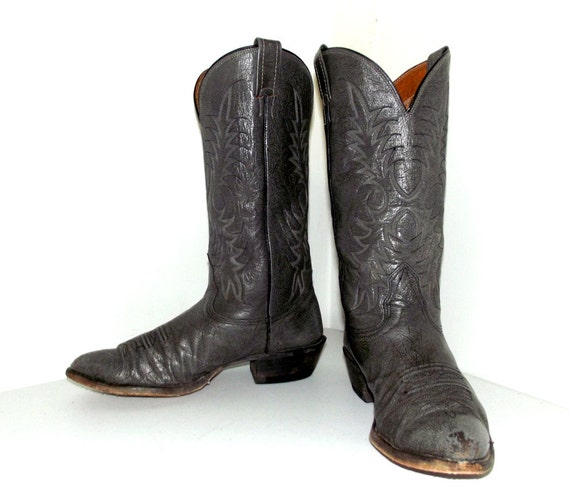 Grey or size Leather size 9 5 cowboy boots 11 D Nocona cowgirl brand q6Fxrqw1p