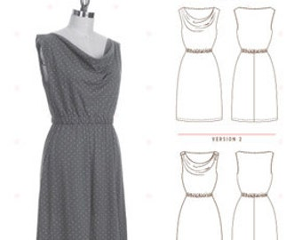 Myrtle Dress Pattern by Colette Patterns - Beginner - Knit Dress Pattern - Pattern Sewing Pattern - Colette Patterns