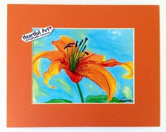 TIGER LILY 8x10 Flower PRINT Home Bathroom Kitchen Decor Mom Mother's Day Birthday Gift 4 Women Gardener Heartful Art by Raphaella Vaisseau