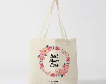 W149Y tote bag best mum ever, custom tote bag, tote bag, diaper bag, mothers bag, shopping bag, bag, cotton tote bag